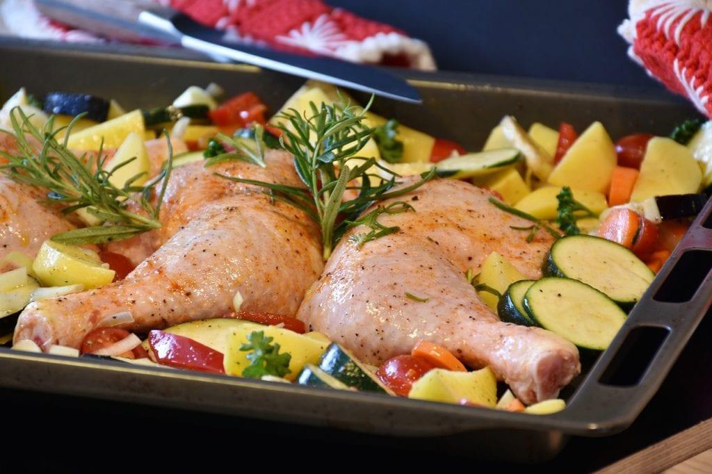 udka z kurczaka z warzywami