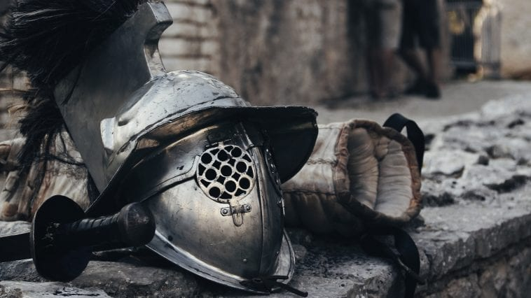 Hełm gladiatora.